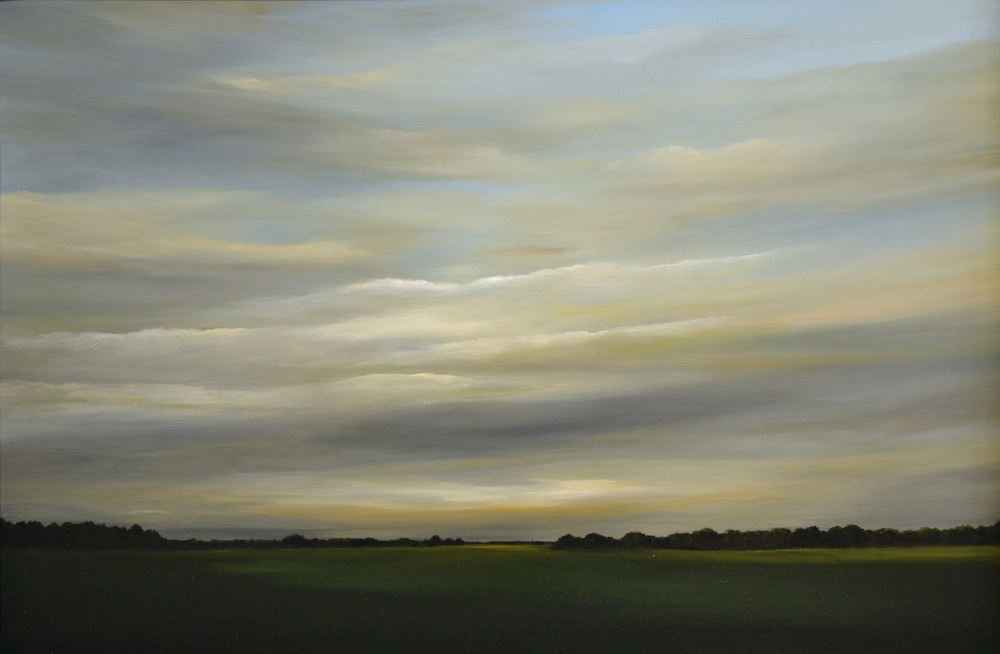 Low Light East of Chatham   oil on canvas  h 26  w 38 inches