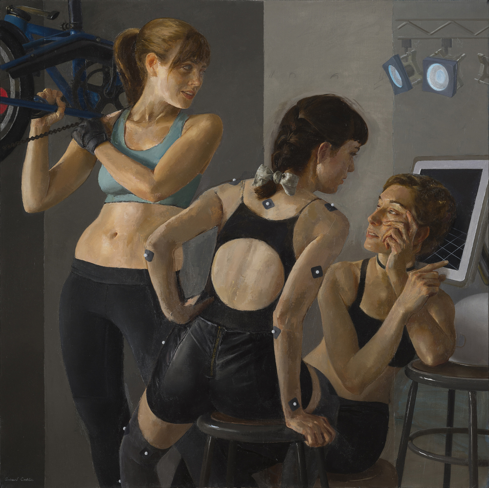 Motion Capture Studio 4   oil on linen  h 40  w 40 inches