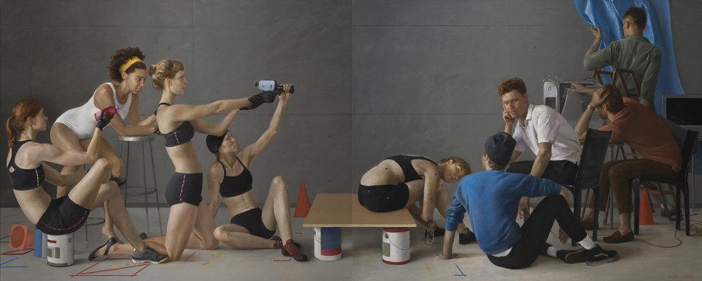 Motion Capture Studio 2   oil on linen h 42 w 104