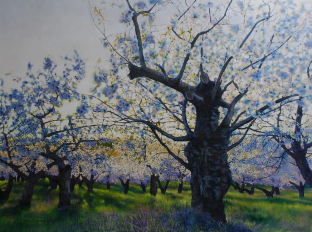 Fragrance of Spring   oil on canvash 36 x w 48 inches SOLD