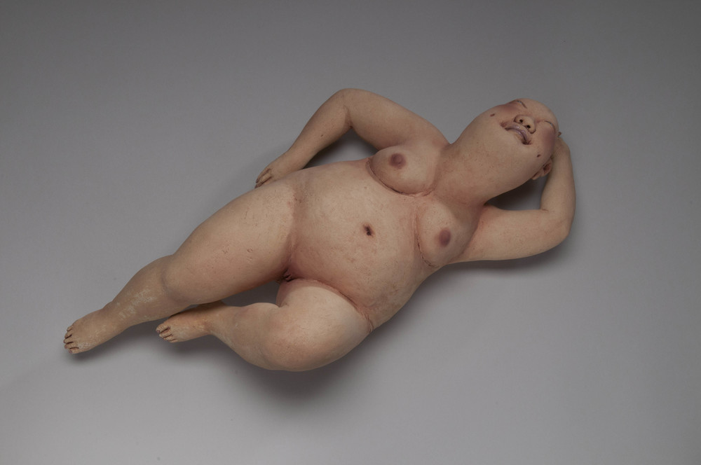 Float Away   stoneware, porcelain, h 10 w 18 d 8 inches
