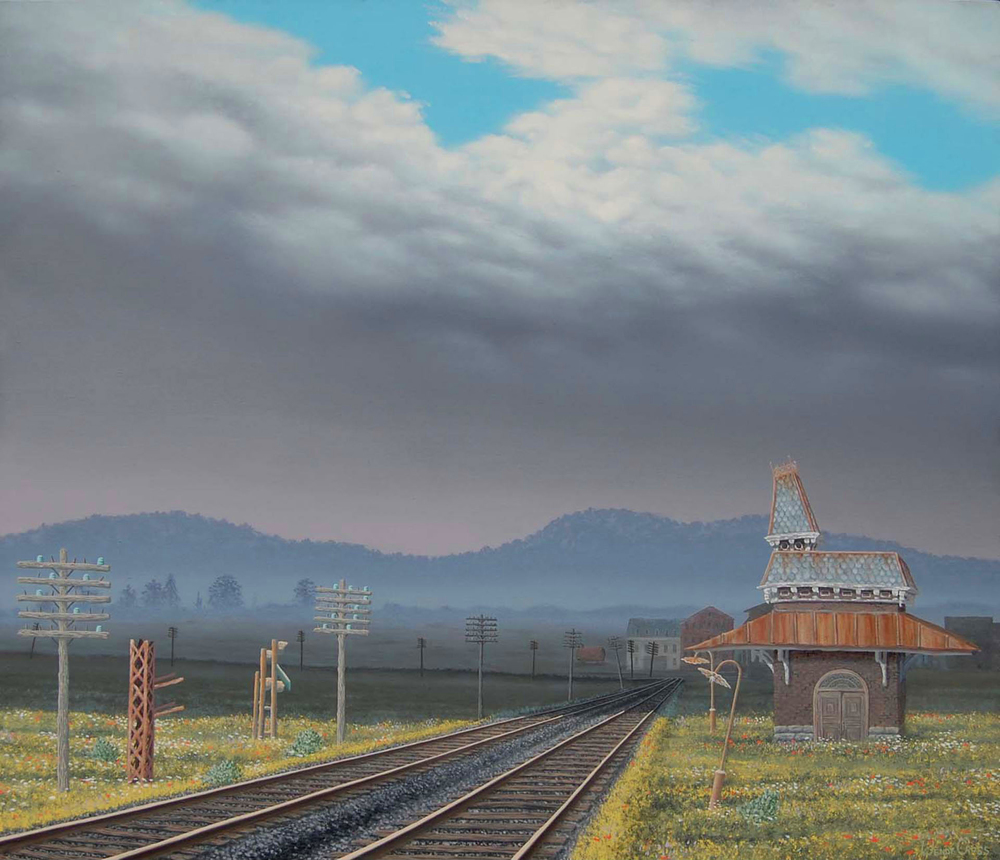 Depot   oil on canvas, h 38 w 44 inches