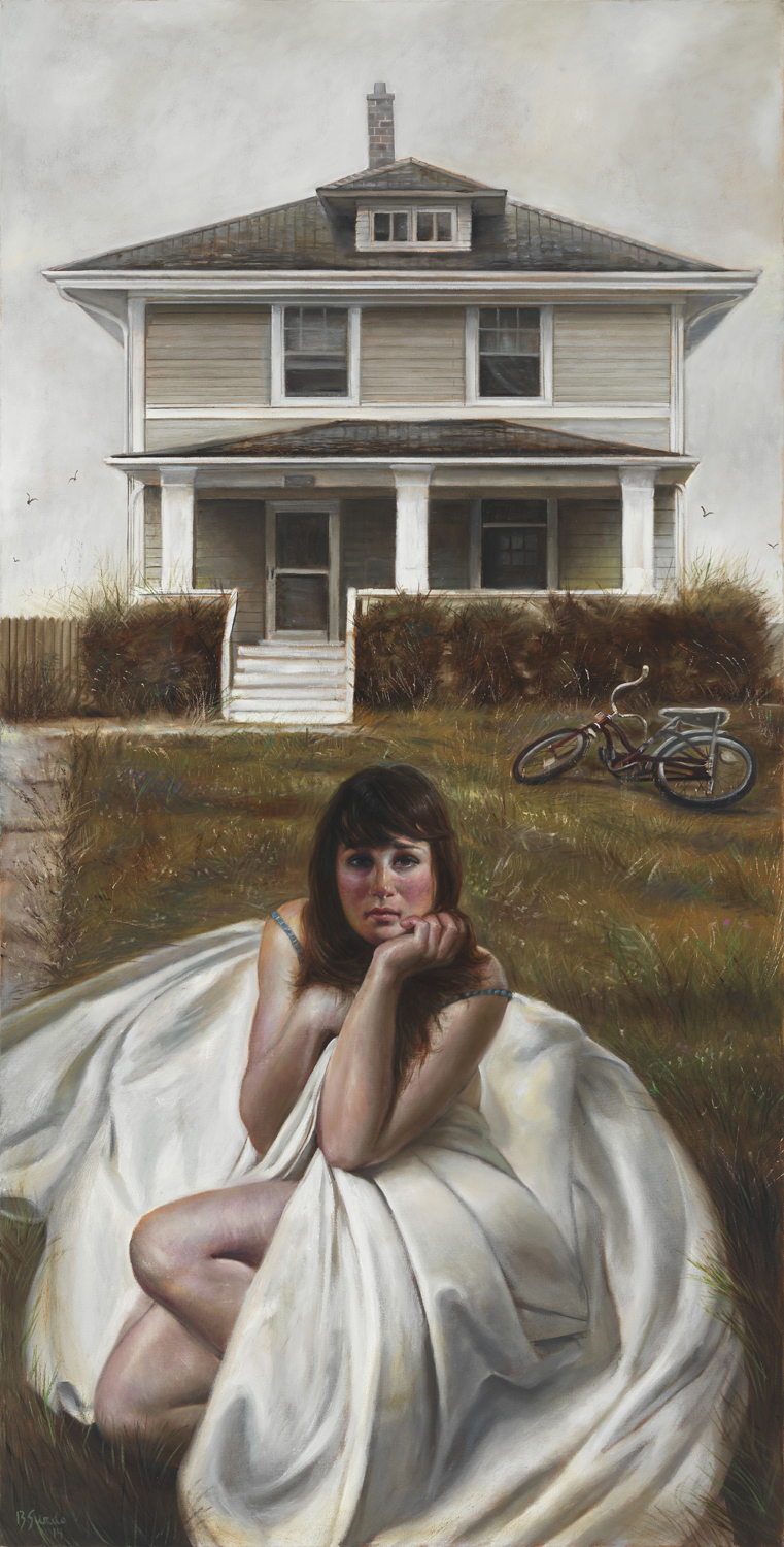 Holding On    oil on canvas,  72X36 inches