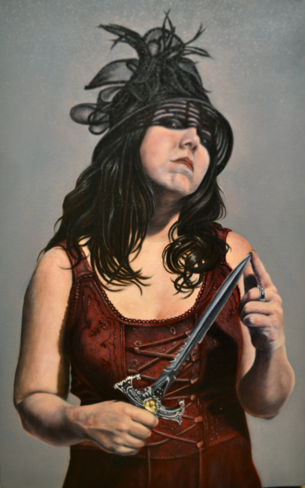 Dangerous Liaisons   oil on canvas, h 22 w 13 inches