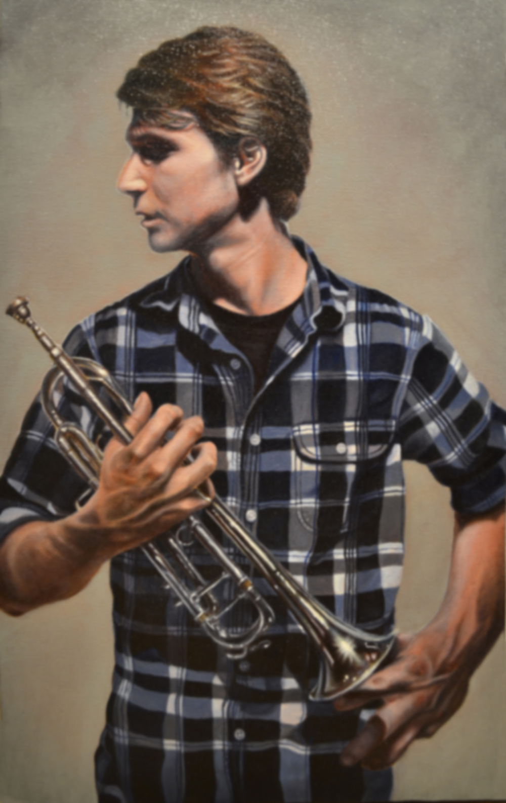 Taps   oil on canvas, h 22 w 13 inches  SOLD