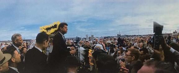 JFK in SD, 1960    archival pigment print, 2016, 19 x 13 inches