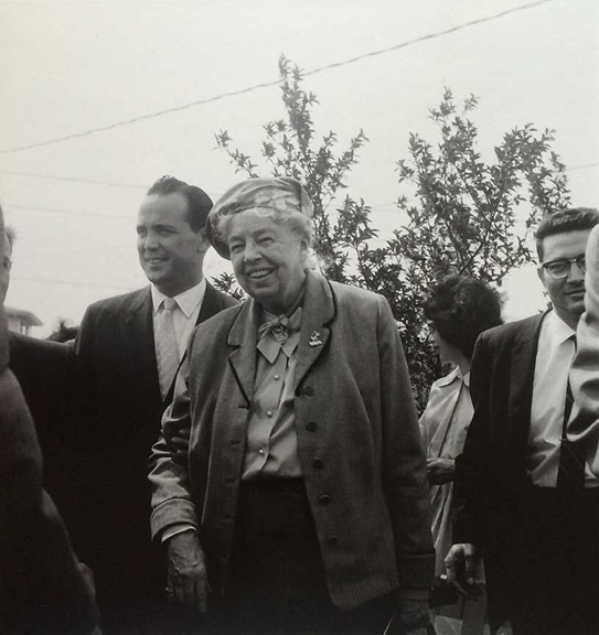Eleanor Roosevelt in Deerfield to Assist in Human Rights Campaign, 1961    archival pigment print, 2016, 13 x 19 inches