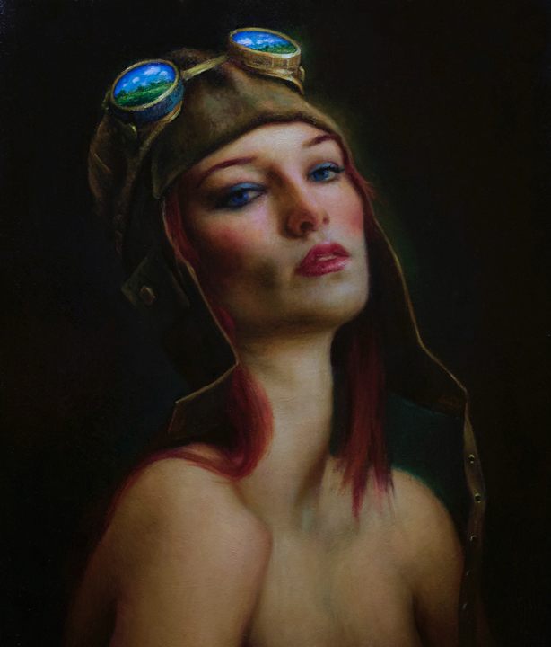 Flying Dreams    oil on linen,  h 20w 16 inches