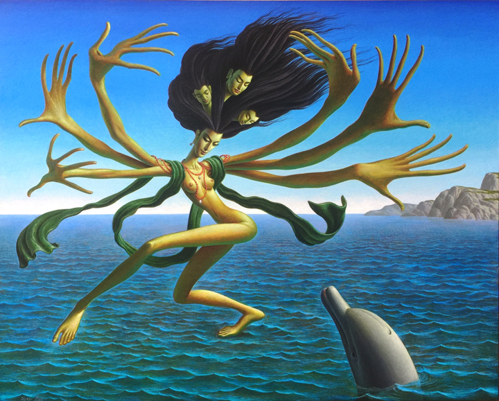 Sea Goddess    acrylic on panel|  h 16w 20 inches