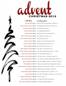 advent printable