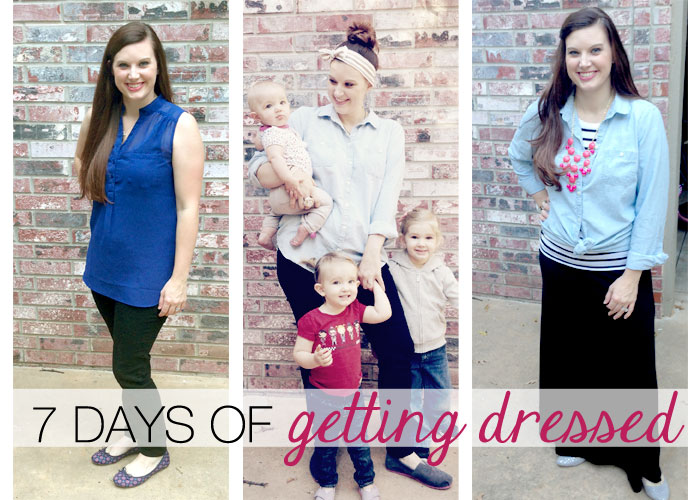 7 days of getting dressed with intention