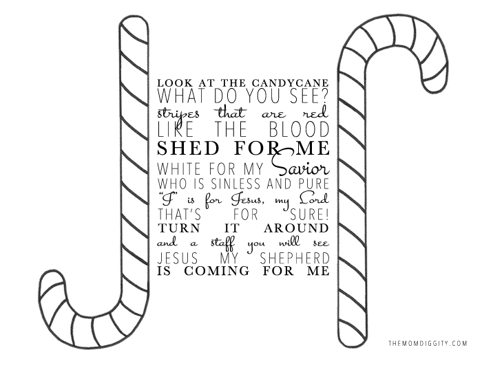Candy Cane Story Printable Coloring Coloring Pages