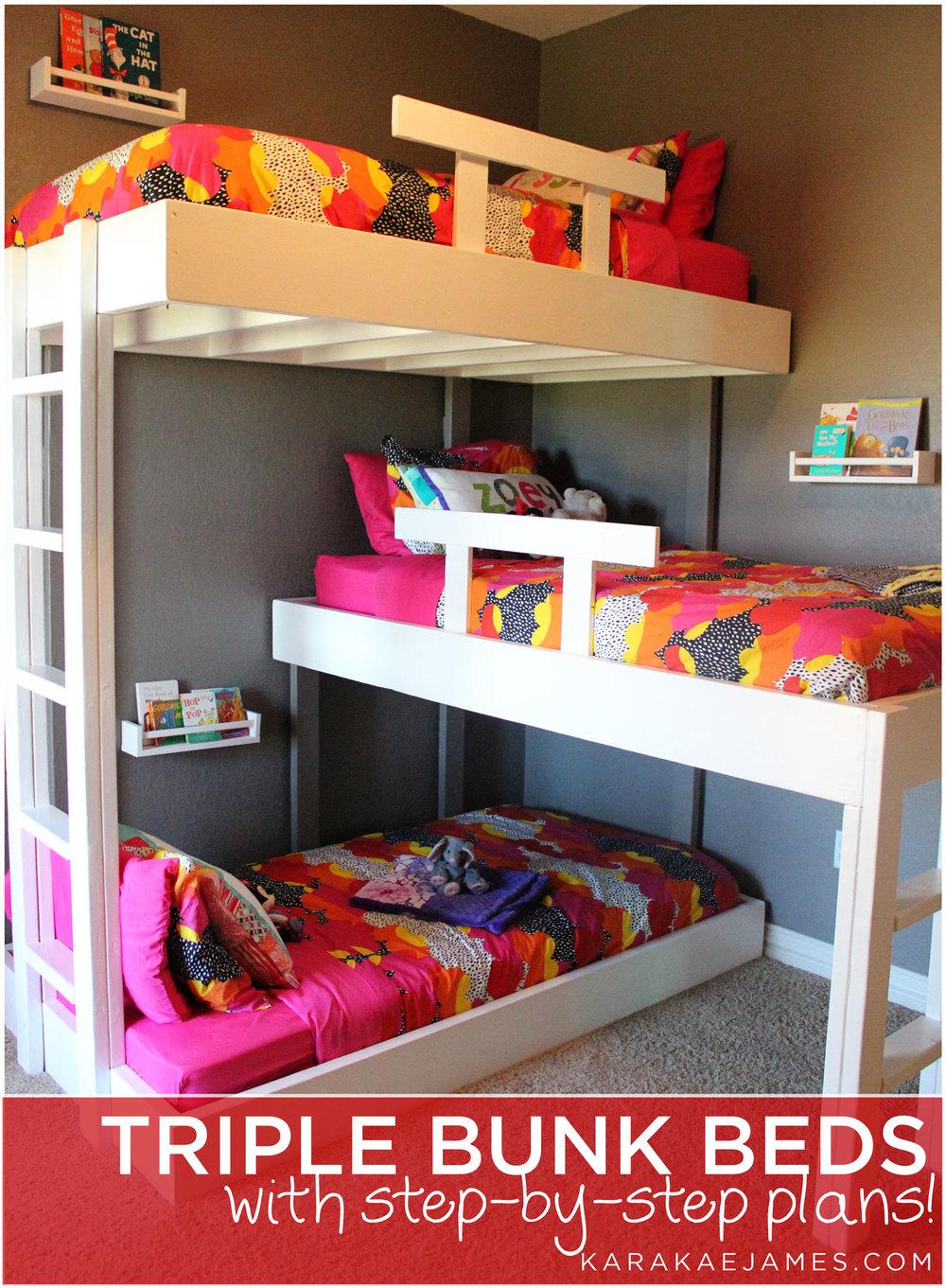 Triple Bunk Beds With Plans Kara Kae James
