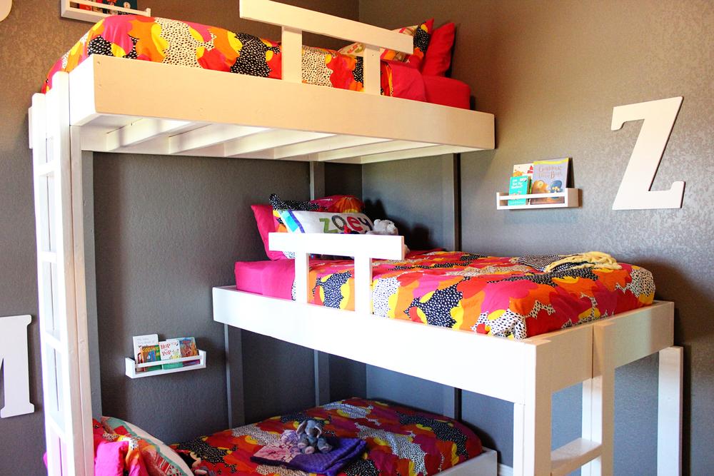 Triple Bunk Beds With Plans Kara Kae James