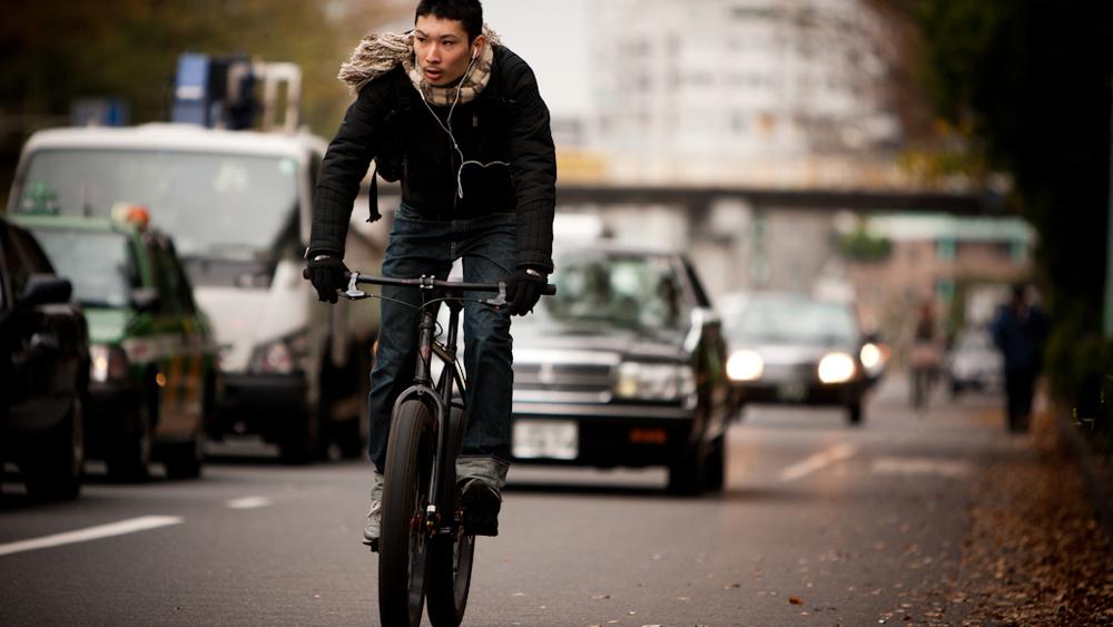 Rider near Yoyogi park, Tokyo