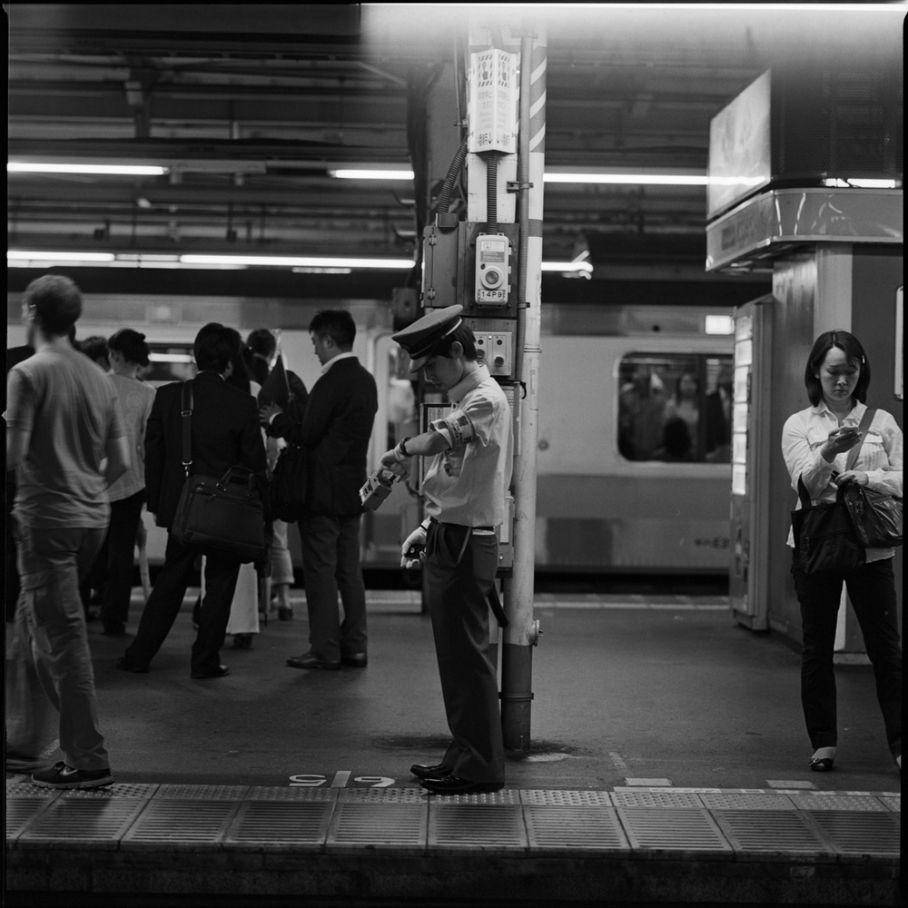 Shinjuku station. Always on time.