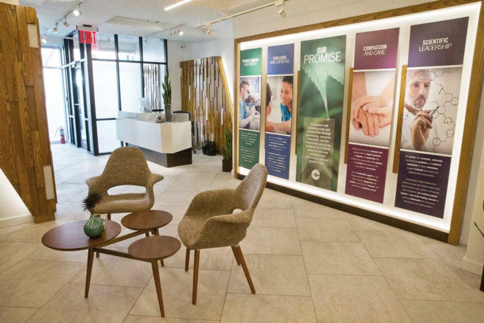 Columbia-Care-medical-marijuana dispensary-reception-Evangeline-Dennie-photo-by-Mary-Altaffer.jpg