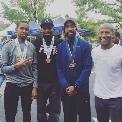 roy, omari, me, and ed post-race