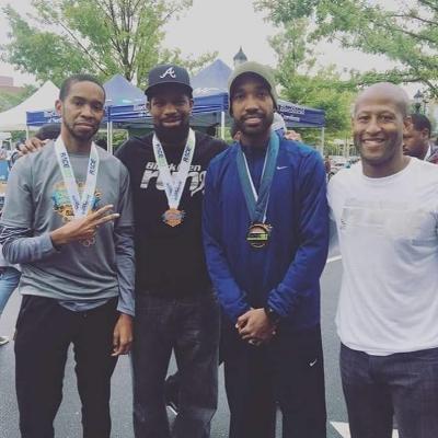 roy, omari, me, and ed post-race