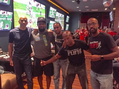 patrick, omari, roy, ed, and me the night before the race