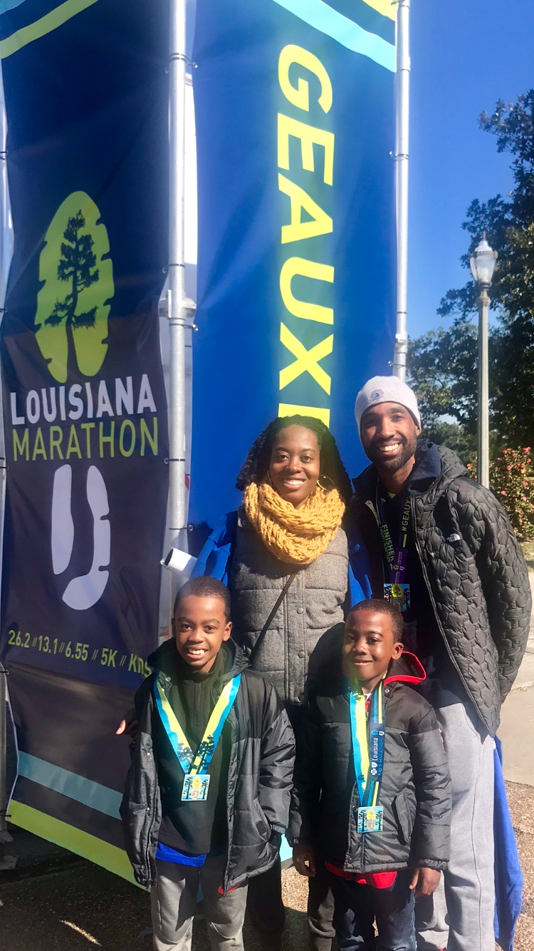 the family at the post-race festival