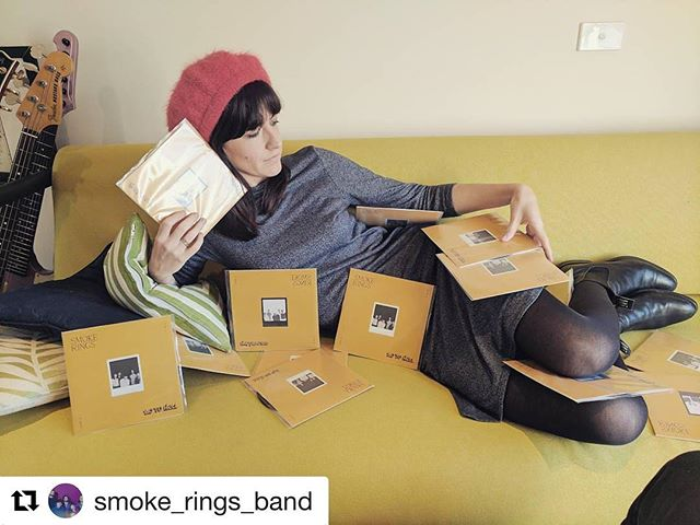 "Love this shot of our latest cut by @smoke_rings_band... #Repost ・・・ Need something to keep you warm this winter? OUR 7"" IS OUT 🤗 Pre-salees, they're comin' at ya 😘 want one? Link in bio 💳"