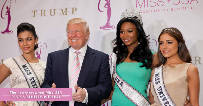Miss USA 2012 with Donald Trump