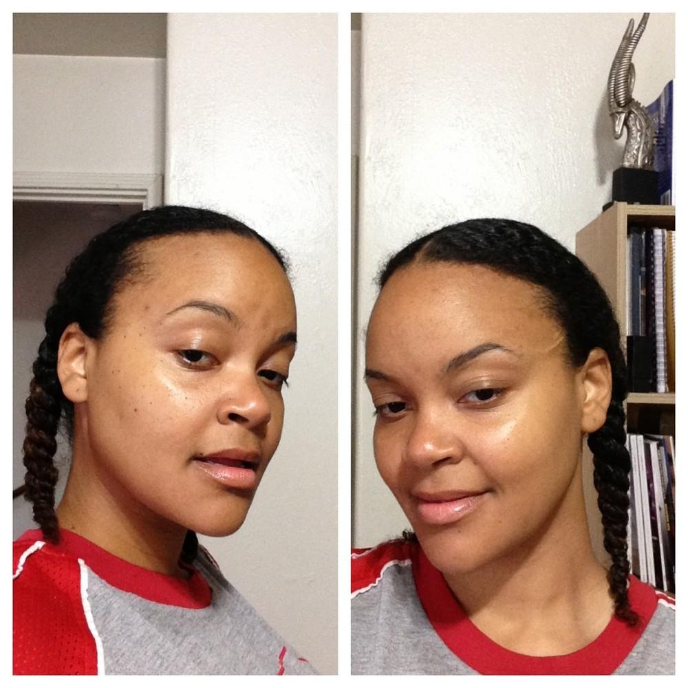 Eucerin SPF challenge for brown skin classy black girl