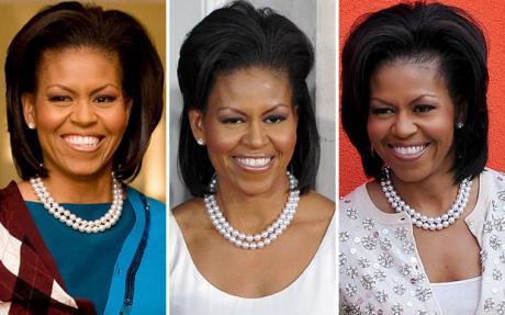 Michelle Obama in Pearls ClassyBlackGirl Classy Girls
