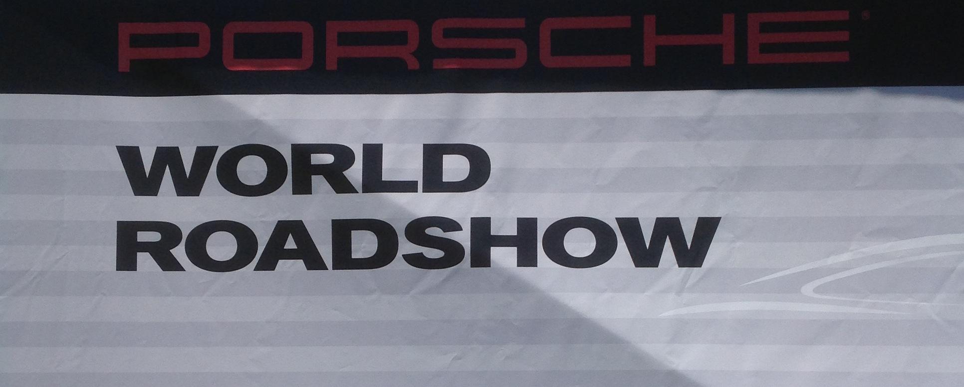 Porsche World Roadshow Banner