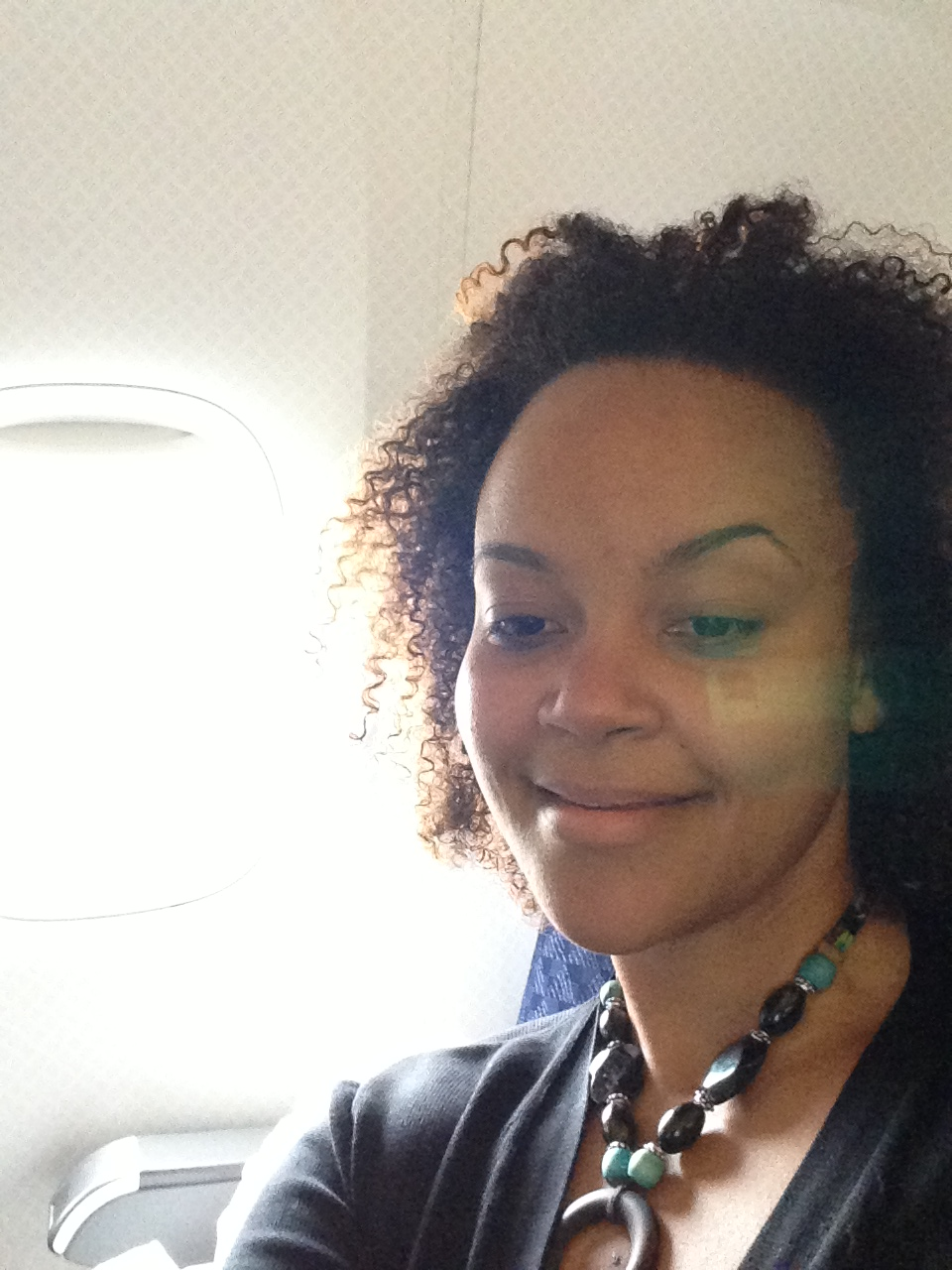Me Natural on the Plane!