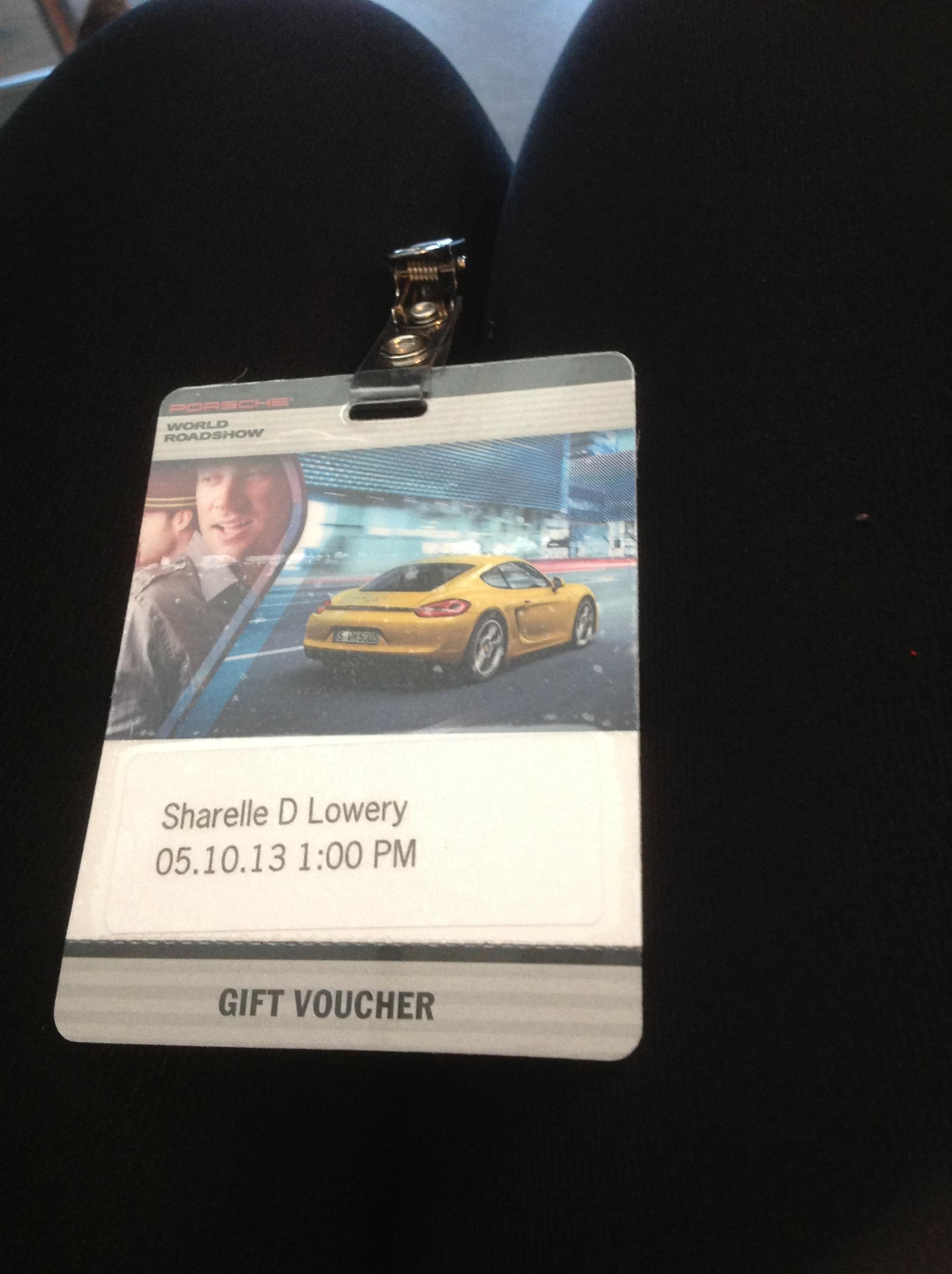 Porsche World Roadshow Name Tag