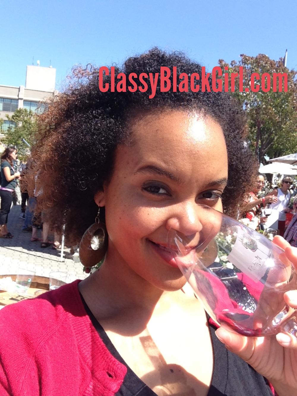 Sharelle Lowery Drinking Wine Classy Black Girl