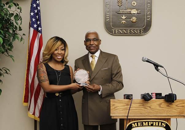 K. Michelle Receives Mayor Award
