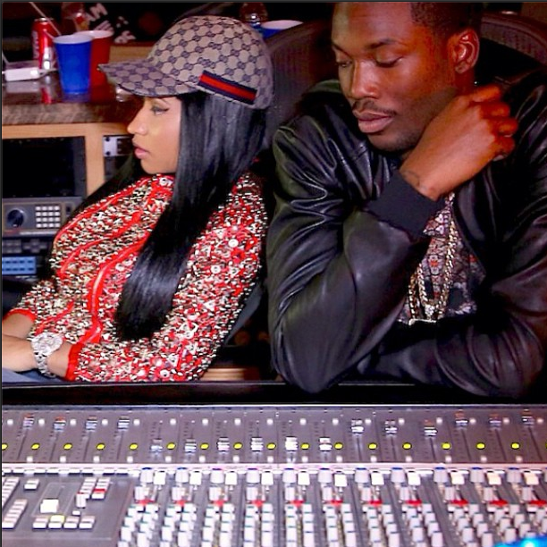 Nicki Minaj in the Studio