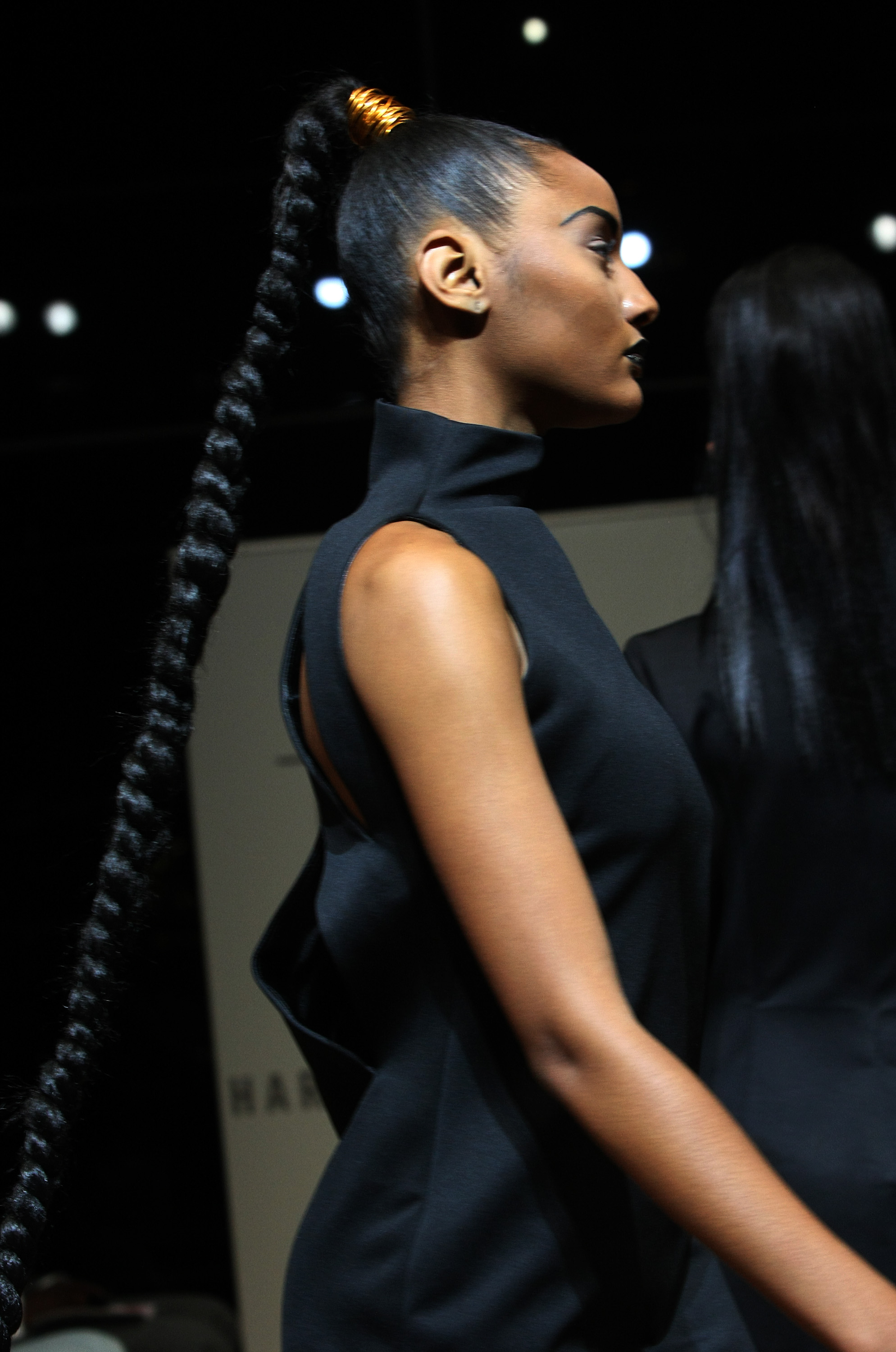 Dark and Lovely at HFR_Sleek  Braided Ponytail Final Runway Look
