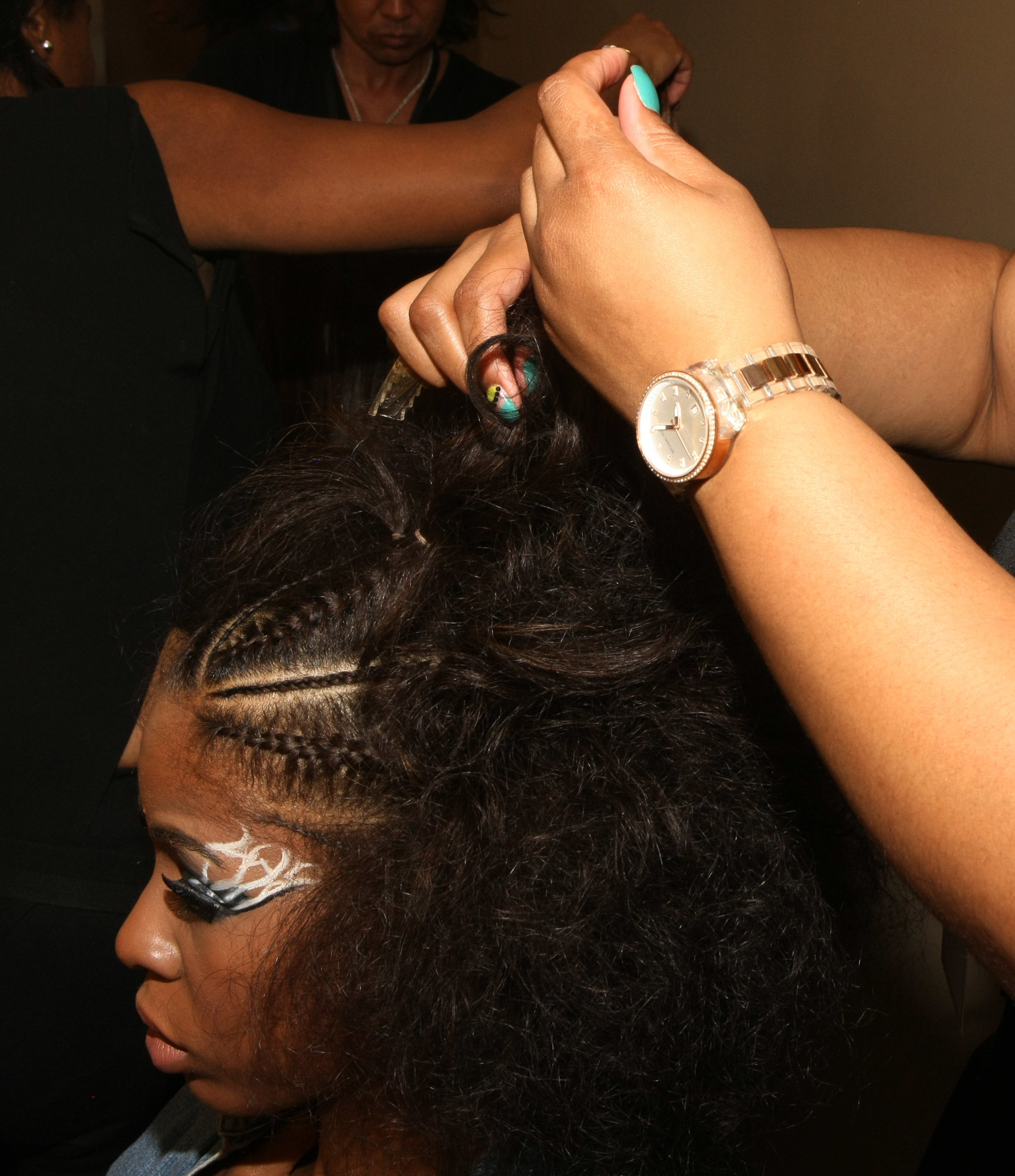 Dark and Lovely at HFR_Braids with Afro Texture Look