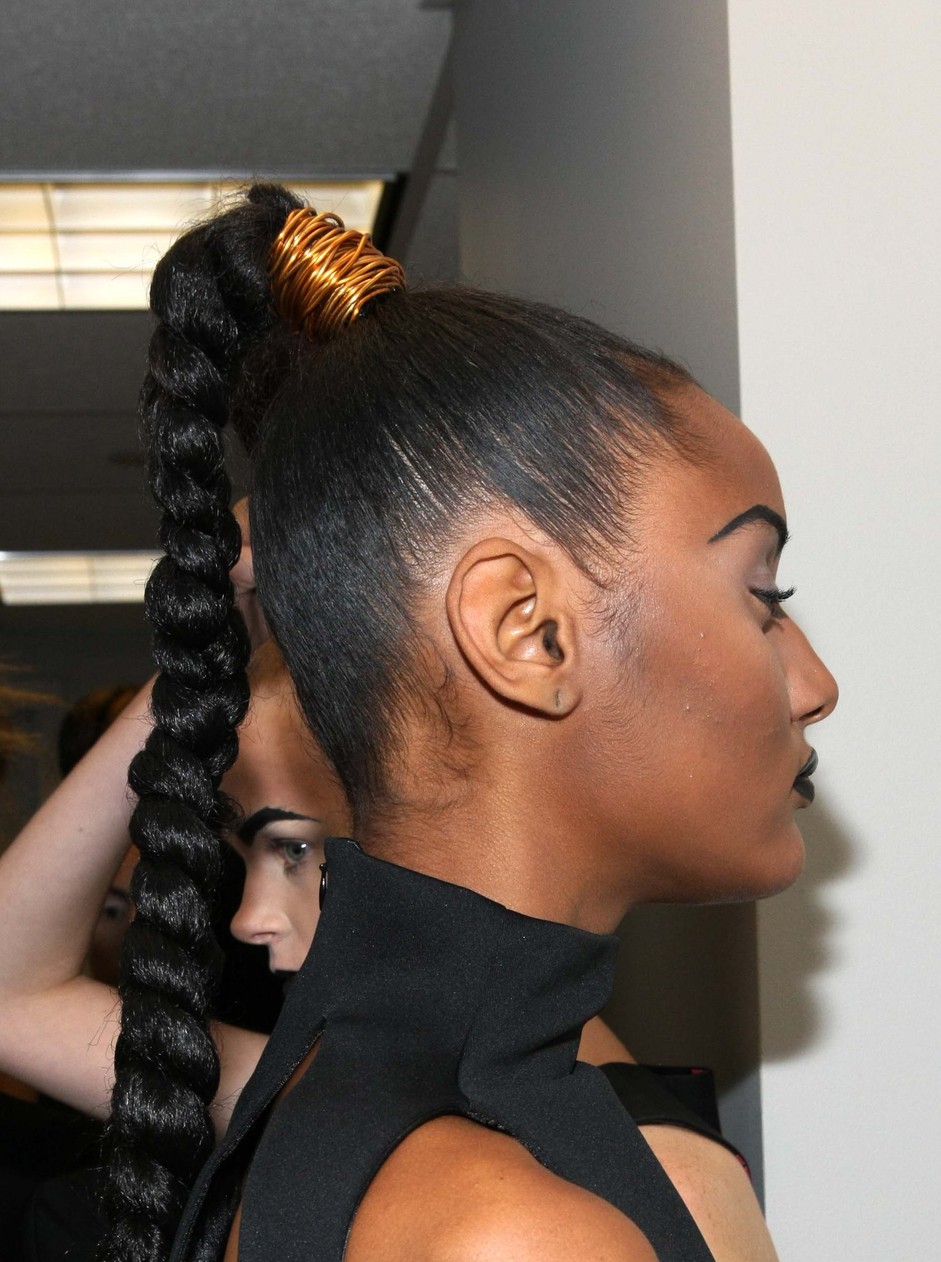 Dark and Lovely at HFR_Sleek Braided Ponytail Look