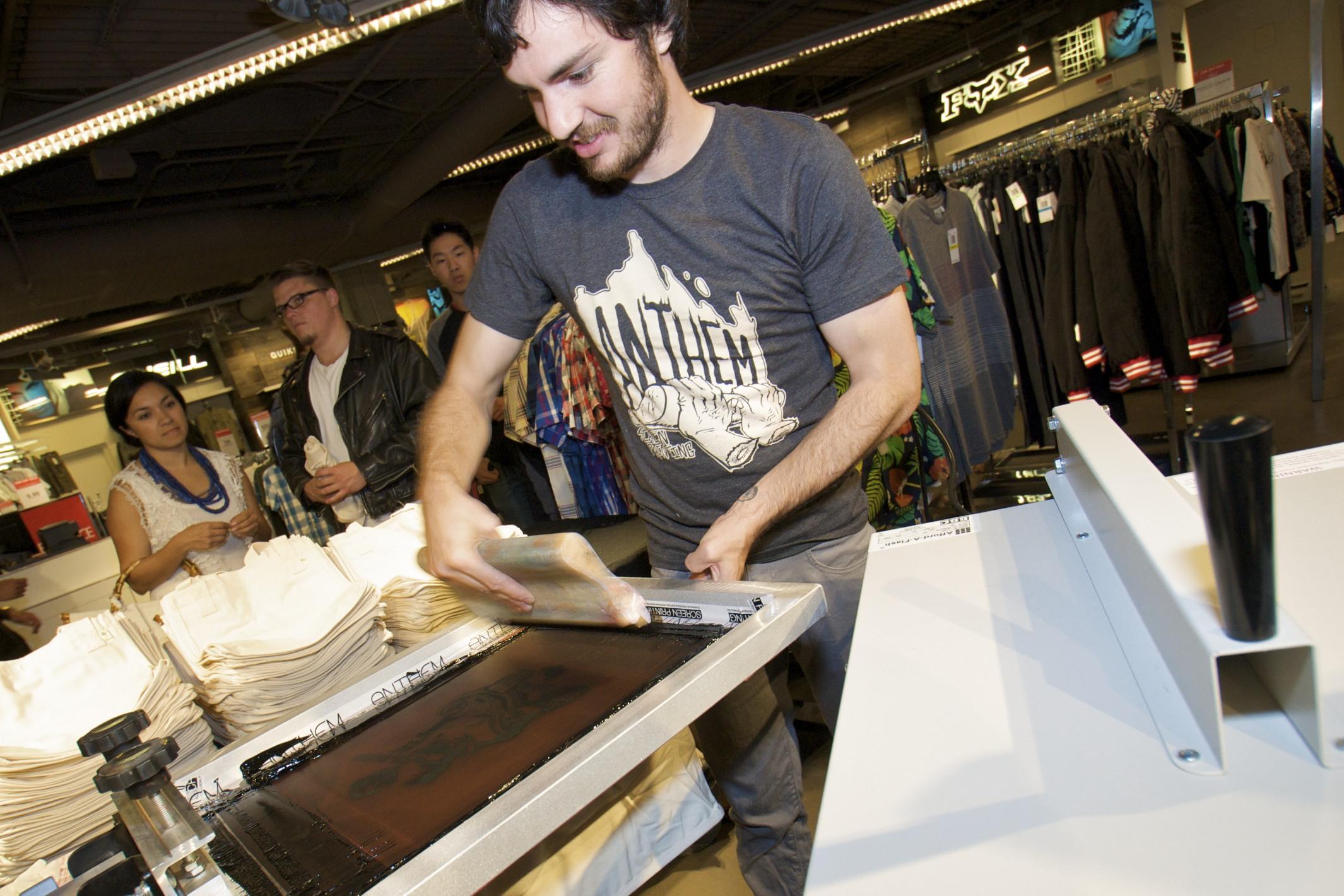 Making Screen Printing T-Shirts!