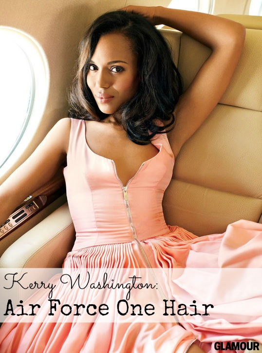 Kerry Washington as Olivia Pope Weave Glamour Air Force One