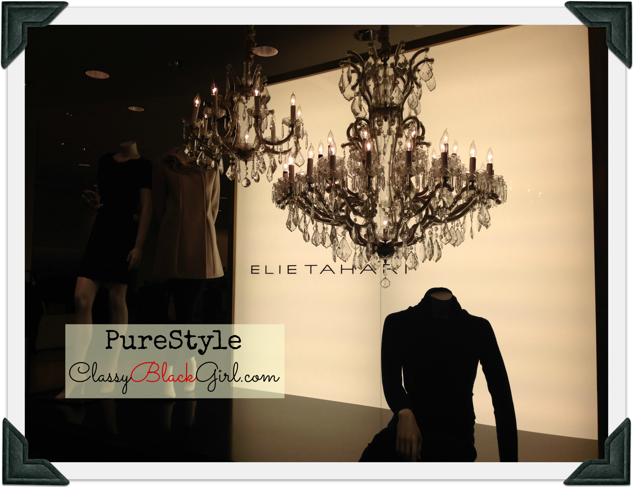 Pure Style Chandelier Elie Tahari Classy Black Girl ClassyBlackGirl.com Sharelle Lowery