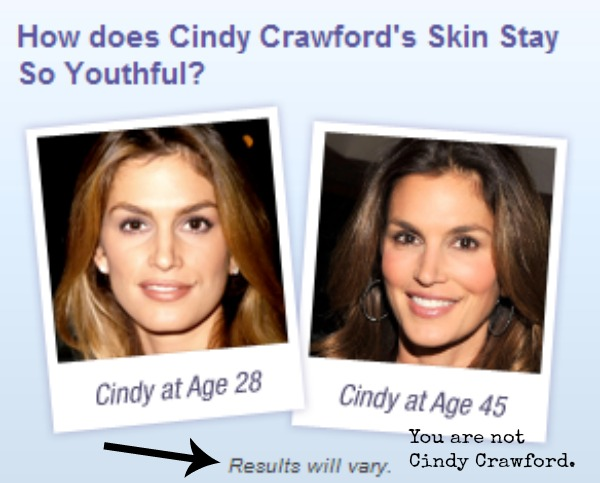 Side by Side Cindy Crawford USE