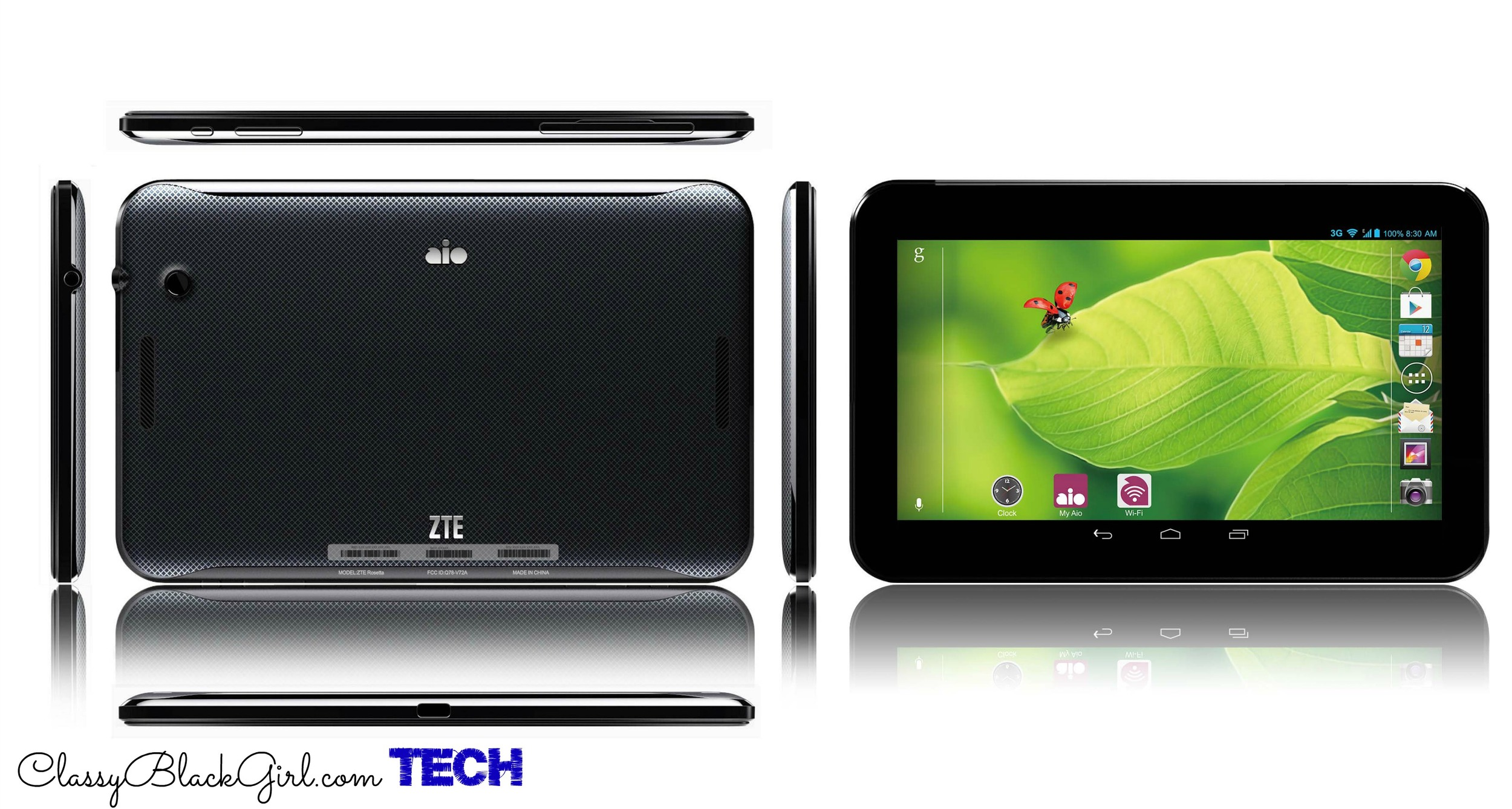 ZTE Tablet Android AIO Wireless ClassyBlackGirl Tech