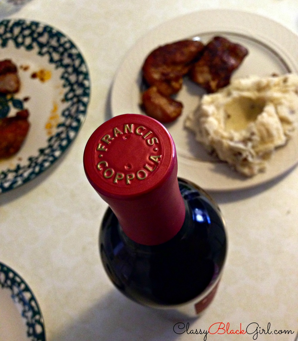#shop, #cbias, #FreshFinds, Lucky Supermarket, Food and Wine, ClassyBlackGirl.com, CBG1913, All Wines Together, Francis, Coppola, Francis Coppola, Zinfandel, Country Ribs