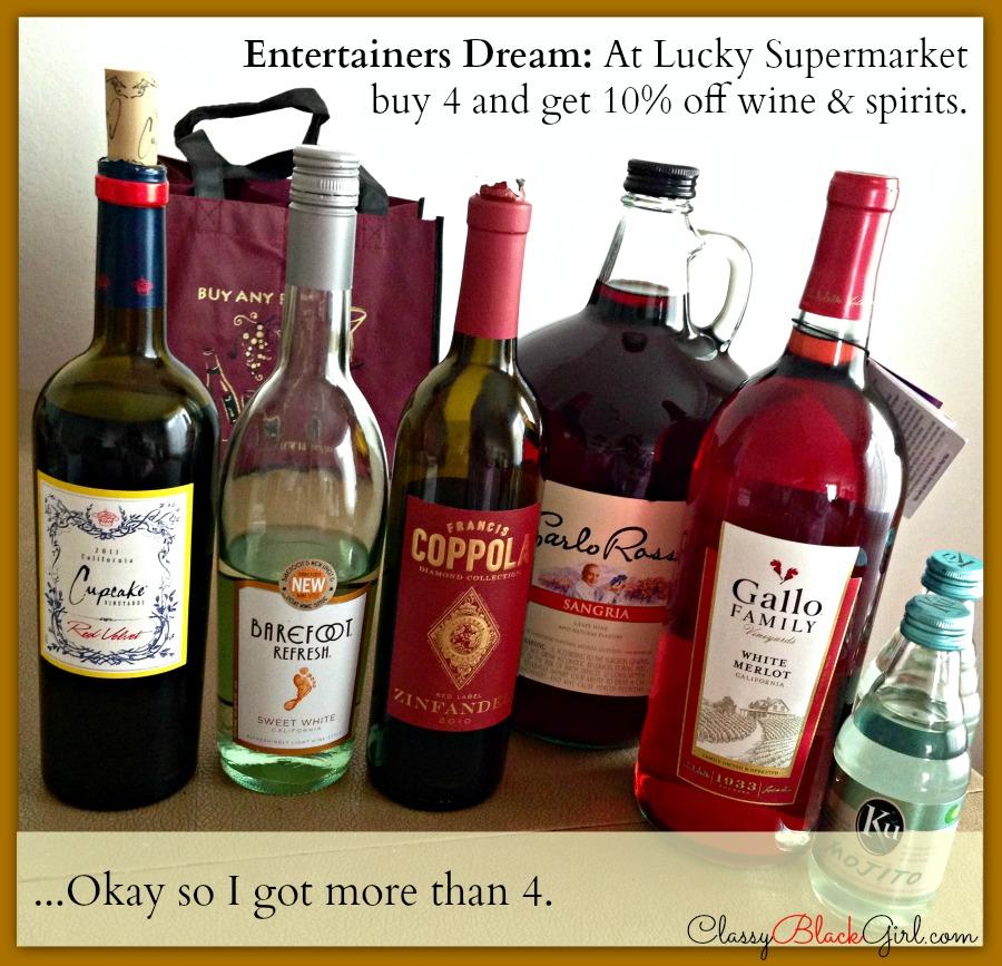 #shop, #cbias, #FreshFinds, Lucky Supermarket, Food and Wine, ClassyBlackGirl.com, CBG1913, All Wines Together