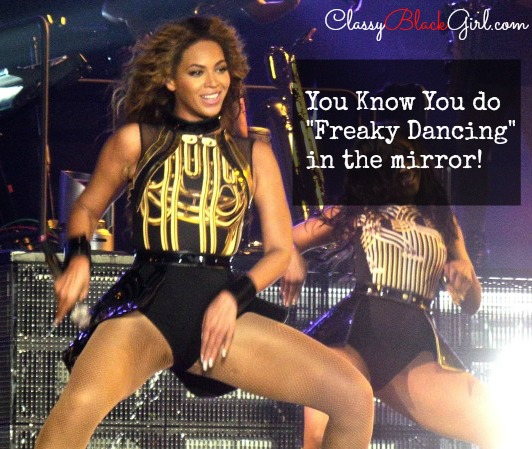 Beyonce Dancing in the Mirror