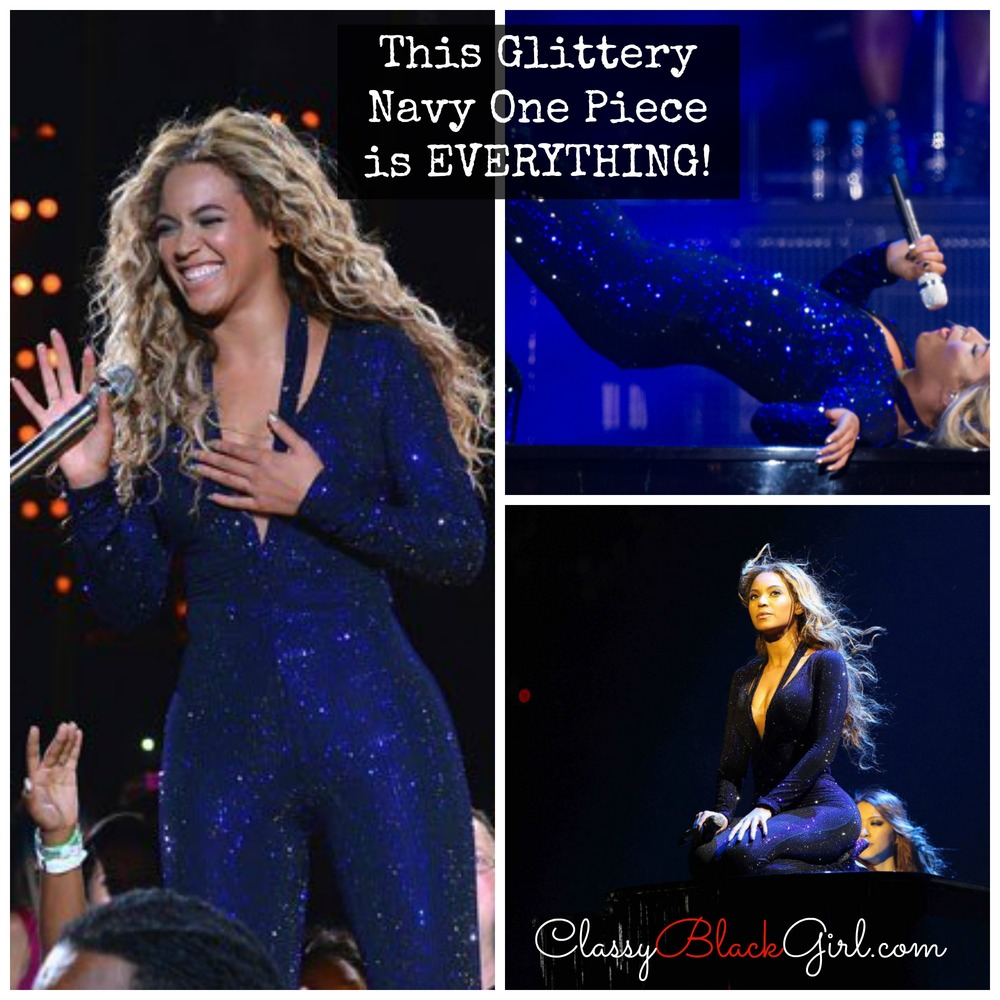 Beyonce in Navy Royal Blue Concert