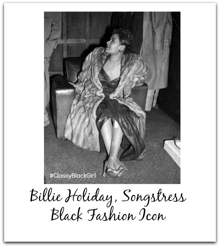 Billie Holiday Black Fashion Icon ClassyBlackGirl