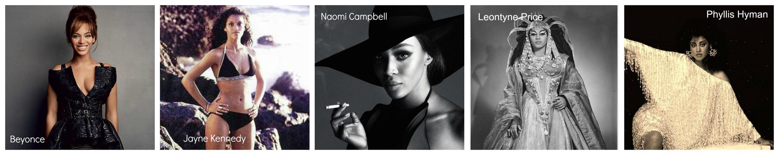 Black Fashion Icons Classy Black Girl Black History Month Beyonce Jayne Kennedy Naomi campbell Leontyne Price Phyllis Hyman