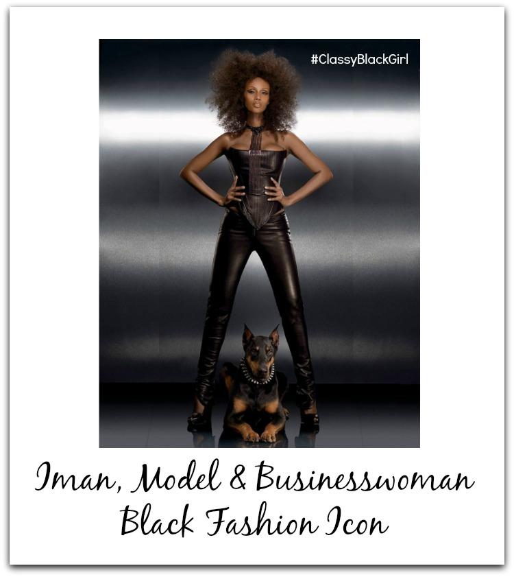 Iman Model Classy Black Girl Black Fashion Icon Black History Month USE